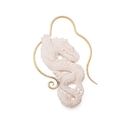 Elementals Organics ORG3090-pair 16g Brass and Carved Bone Serpent Dragon Earrings - Price Per 2