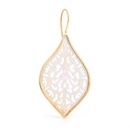 Elementals Organics ORG3107-pair 16g Rustic Boho Earrings with Spade Mother of Pearl Inlay - Price Per 2