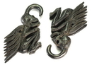 Painful Pleasures ORG554 SKELETON Wholesale Horn Hanger Organic Body Jewelry 4mm - 10mm - Price Per 1