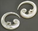 Elementals Organics ORG568-pair Mother of Pearl Murugan Spiral Hanger - 2mm to 8mm - Price Per 2