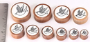 Painful Pleasures ORG621 Saba Wood Double Flare FLYING SPARROW Inlay Plug Wholesale Organic Jewelry 8mm-31mm - Price Per 1