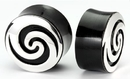 Painful Pleasures ORG630 SILVER Spiral Plug Horn Organic Ear Jewelry - Price Per 1