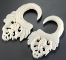 Painful Pleasures ORG674 RESPLENDENT Natural Bone CARVED Organic Body Jewelry 2mm - 8mm - Price Per 1