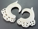 Painful Pleasures ORG675 OPULENT Natural Bone CARVED Organic Body Jewelry 2mm - 8mm - Price Per 1