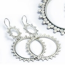 Elementals ORG909-pair CIRCLE DROP 18g - .925 Sterling Silver Chaitra Earrings Hangers - Price Per 2