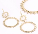 Painful Pleasures ORG911-pair 18g GOLD PLATED Circlo Earrings - Price Per 2