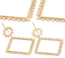 Elementals Organics ORG914-pair 18g GOLD PLATED BIG SQUARE Earrings - Price Per 2