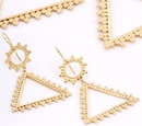 Painful Pleasures ORG917-pair 18g GOLD PLATED PYRAMID Earrings - Price Per 2