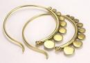 Elementals Organics ORG937-pair 16g Bronze Indonesia Style Earrings - Price Per 2