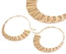 Elementals Organics ORG941-pair 18g GOLD PLATED Chain Love Earrings - Price Per 2