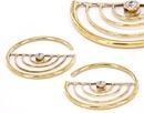 Elementals Organics ORG986-pair 12g BRONZE CORKEY Style Earrings - Price Per 2