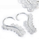 Elementals ORG990-pair 12g Silver SERPENTINE Style Earrings - Price Per 2