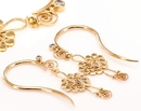 Painful Pleasures ORG994-pair 12g GOLD PLATED Indonesia Aasera Style Earrings - Price Per 2