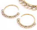 Elementals Organics ORG995-pair 12g BRONZE TRIANGLES Style Earrings - Price Per 2