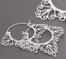 Elementals ORG999-pair 18g SILVER Indonesia Misha Style Earrings - Price Per 2