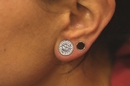 "Painful Pleasures P149 BLING Threaded Tunnel Plugs High Polish Steel Ear Jewelry 0g - 1"" - Price Per 1"