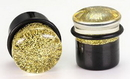 "Painful Pleasures P169 GOLDEN GLITTER TOP HAT Acrylic Plug with Black Oring - 6g - 5/8"" - Price Per 1"