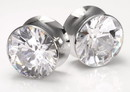 Double Flare Bling-Blow Plugs High Polish Steel Ear Jewelry 2Mm - 20Mm - Price Per 1