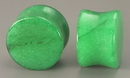 "Painful Pleasures P264 Double Flare GREEN STONE Plug - 8g - 1"" - Price Per 1"