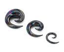 Painful Pleasures P487 Black Lucifer Spiral Glass Plug - Price Per 1