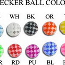 Painful Pleasures RES177 14G - 12G - 10G THREADED CHECKER BALLS