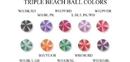 Painful Pleasures RES183 14G - 12G - 10G THREADED TRIPLE BEACH BALL