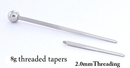 Pierced Tools RES229 8g 1 inch Threaded Taper with 2.0mm Threading
