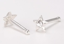 Painful Pleasures SNS137-packet 20g Sterling Silver Crystal Star Nose Bone Jewelry - Price Per Packet of 20