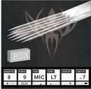 Needles TAT-1052-1053-BOX #8 Curved Bugpin Magnum Premade Sterilized Tattoo Needles on Bar - Box of 50