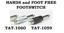 TAT-1060 Silver Wireless FootSwitch - Hand and Foot Free - Tattoo Supplies