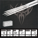 Needles TAT-703-896-BOX #10 BugPin Magnum Premade Sterilized Tattoo Needles on Bar - Box of 50