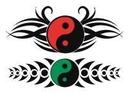 """Painful Pleasures TAT-908 Yin Yang Temporary Tattoos - 2.5""""X3.5"""""""