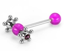 Painful Pleasures UB302 14g 5/8'' Acrylic Gypsy Straight Barbell
