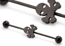 Painful Pleasures UB333 16g 1 3/8'' Black Poison Industrial Barbell