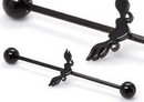 Painful Pleasures UB334 16g 1 3/8'' Black Soaring Heart Industrial Barbell