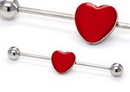 Painful Pleasures UB338 16g 1 3/8'' Heart Industrial Barbell