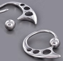 Painful Pleasures UR053 14g Ecliptic Stainless Steel Captive Bead Ring