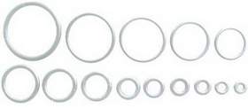 """18G Up To 1"""" Spare Clear O-Rings Qty. 100"""