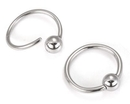 Painful Pleasures UR261 18g Annealed Stainless Steel Ring with Fixed Ball