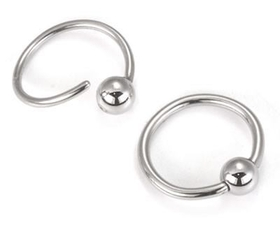 18G Fixed Bead Stainless Steel Ring Annealed