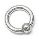 Painful Pleasures UR331-snap 4g Stainless Steel Captive Bead Ring with Snap Fit Ball