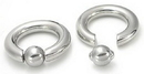 Painful Pleasures UR338-pop 2g Stainless Steel Captive Bead Ring with Pop Fit Ball