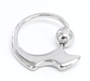 Painful Pleasures UR349 14g Sickle Stainless Steel Captive Bead Ring