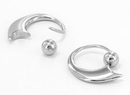 Painful Pleasures UR356 14g Crescent  Stainless Steel Captive Bead Ring