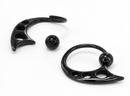 Painful Pleasures UR357 14g Blackout Ecliptic Captive Bead Ring