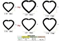 Painful Pleasures UR382-UR383 18g Niobium Heart for Ear Piercings - 2 Sizes & 18 Color Options - Price Per 1