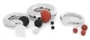 Painful Pleasures UR438 Black Nitrile Ball- 4mm-15mm - Price Per 1