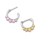 Painful Pleasures UR509 16g Steel Septum Clicker with Five Colored Crystals - Price Per 1
