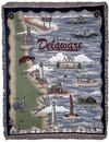 Simply Home Beaches Of Delaware Tapestry Throw (RTP007637)