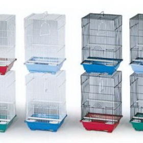"Prevue Assorted Small Cage Styles 11 ¼""L X 9""W X 16 ¼""H, 7/16 Wire Spacing, Assorted Colors - ECONO-8, Price/8 Pieces"